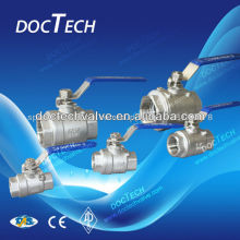 Mini 2-PC Carbon Steel Threaded Ball Valve Made In China