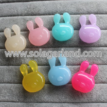 34*36MM Acrylic Translucence Lovely Rabbit Pendants Charms