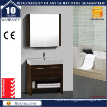 New Design Melamine Storage Bathroom Vanity with Two Doors