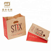 Factory Price Custom Small Thin Die Cut Hole Handle Kraft Paper Carrier Bags
