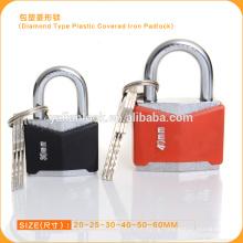 Diamond Type Plastic Covered Iron Padlock