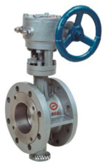 Flexible Graphite Metallic elastic sealing butterfly valve