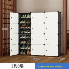 Estante de zapatos de cajas de almacenamiento de zapatos de bricolaje de plástico