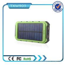 2016 mejor calidad alta capacidad de energía solar Banco 10000mAh fuente de alimentación móvil para teléfonos inteligentes