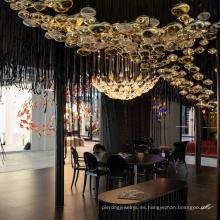 Luces colgantes de araña de lujo de vestíbulo de vestíbulo personalizado creativo