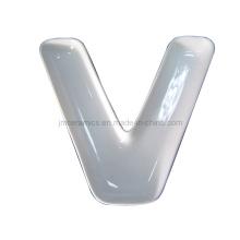 Porcelain Alphabet V Plate (CZJM4129)
