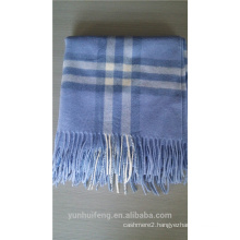 Inner Mongolia square plaid wool shawl
