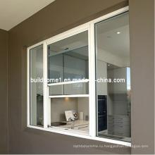 Изолированное алюминиевое вертикальное раздвижное окно