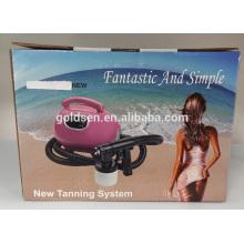 Cama de bronzeamento interior pequena do corpo Mini HVLP Spray elétrico Tan Gun Profissional Airbrush Início DIY Solarium portátil Tanning Machine
