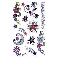 Etiqueta engomada modificada para requisitos particulares del tatuaje del cuerpo del polvo del brillo del arte del cuerpo