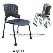 Plastic Stackable Stuhl Kunststoff Stahl Stuhl mit Rädern