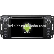 Android 4.4 Mirror-link TPMS DVR 1080P DVD de doble núcleo para Jeep / Chrysler / Dodge con GPS / Bluetooth / TV / 3G