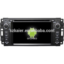 Android 4.4 Miroir-lien TPMS DVR 1080P dual core voiture dvd pour Jeep / Chrysler / Dodge avec GPS / Bluetooth / TV / 3G