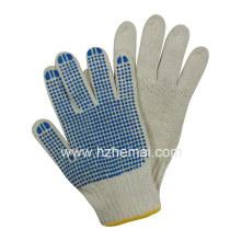 Gant de coton en polycoton tricoté Gant de travail de sécurité