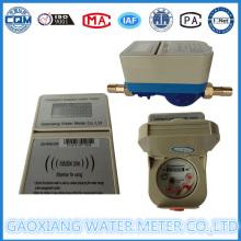 Medidor de água pré-pago de latão ou plástico com impulso