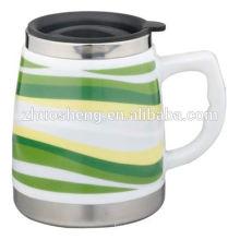 meistverkaufte Produkt made in China Kaffee Becher Werbe Keramik Reisen Becher mit Henkel
