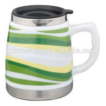 best selling product made in china coffee mug promotional ceramic travel mug with handle