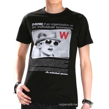 Three Color Custom Fashion Screen Printing Cotton Wholesale Men Tshirt