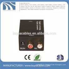Convertisseur numérique / analogique audio tv convertisseur coaxial ou optique à R / L OU 3.5 2.1 Amplificateur Interface Box