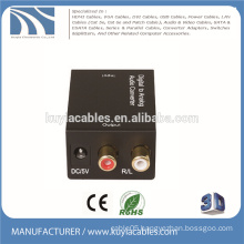 Digital to analog audio tv converter coaxial or optical to R/L OR 3.5 2.1 amplifier Interface Box