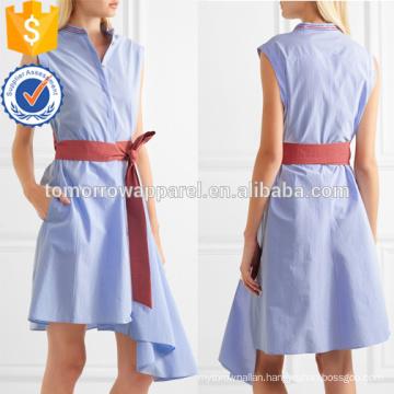 Hot Sale Asymmetric Sleeveless Belted Cotton Summer Daily Dress Manufacture Wholesale Fashion Women Apparel (TA0001D)