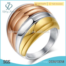Stainless steel wide punk ring,mix colors womens gothic jewelry