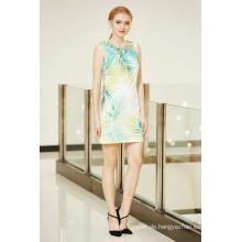 Ärmelloses Ponte Shift Kleid mit Digital Placement Print