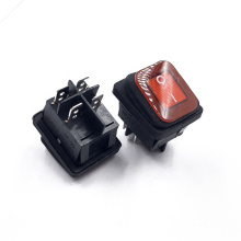 JEC JS-608FAL-0-RB-2-P Square New Boat/Car Marine Supply Water Proof  Rocker Switch