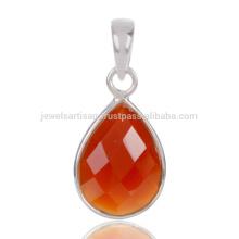 Шашка Натуральный Красный Оникс Огранка Драгоценных Камней 925 Стерлингового Серебра Падение Кулон