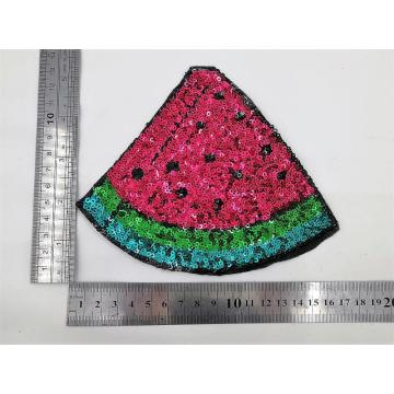 Sequins patches καρπούζι με θερμική σφραγίδα