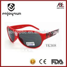 Красный цвет дети пластиковые солнцезащитные очки итальянский бренд солнцезащитные очки