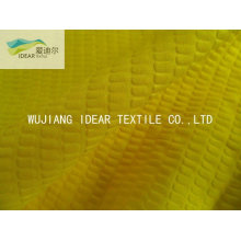 CVC Seersucker 65% algodón 35% poliester tela para cortina