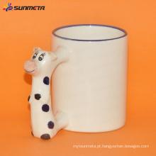 Sublimação animal em branco caneca de boi