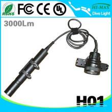 3pcs 26650 Li-Ionbatterie Goodman Handgriff führte Tauchen-Taschenlampe
