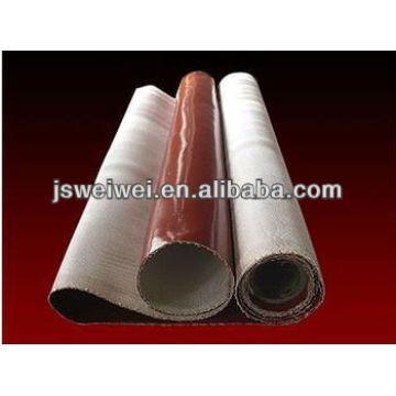 Tissu de fibre de verre enduit par caoutchouc de silicone de haute température de tissu enduit de silicone