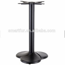 metal 3 legs black dining table base