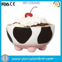 Веселая корова дизайн небольшой мороженое чаша для детей