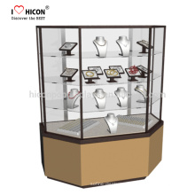 Imagínese que desarrollamos tienda de venta al por menor moderna vitrina de cristal de la joyería del brazalete de exhibición con una fuerza de trabajo dedicada