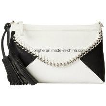 Flashy Tassel Color Block Pattern Ladies Clutch Bag (ZXS0098)