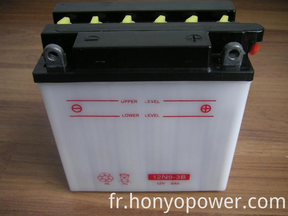 12V 9Ah Dry Charged Lead-acid Batteries