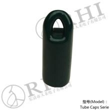 Embouts de crochet RHI 22 mm Dark Green. fermetures en pvc pour tubes, protection des raccords de tuyauterie Caps
