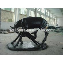 Modern Arts Love Animal statue outdoor Decoration fiberglass sculpture