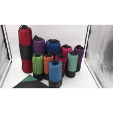 Легкий-взвешенный замши мягкой микрофибры Спорт/пляжное полотенце с карман на молнии легкий-взвешенный замши мягкой микрофибры Спорт/пляжное полотенце с карман на молнии