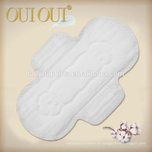 Almofadas sanitárias do algodão orgânico respirável por atacado do cuidado saudável da senhora