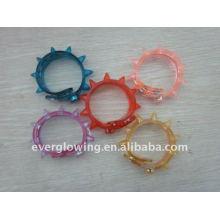 flashing led spike bracelet