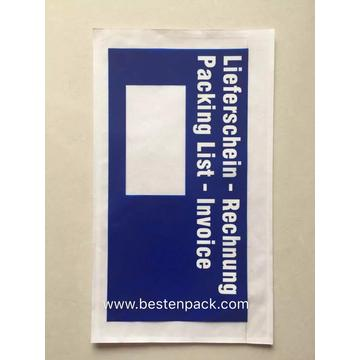 Alemania Blue Packing List Envelope