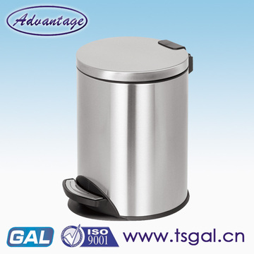 Foot pedal product round rubbish bin