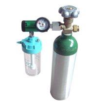 Caudalímetro de oxígeno para gases médicos con botella humidificadora
