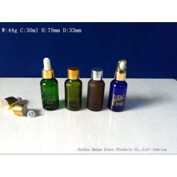 30ml Glass Essensial Oil Bottles with Printing and Frosting