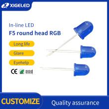LED Leuchtdiode F5blau Haar blau
